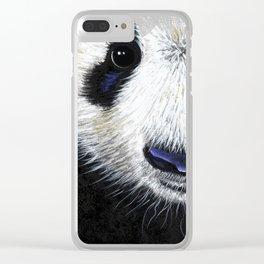 Panda Bear ' PANDA ' by Shirley MacArthur Clear iPhone Case