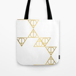 Deathly hallows golden pattern Tote Bag