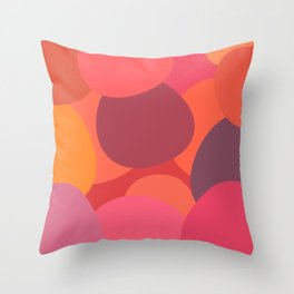 Abstract berry uneven circles  Throw Pillow