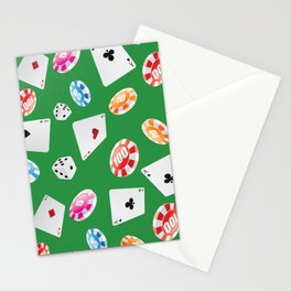 #casino #games #accessories #pattern 4 Stationery Cards