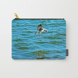 Seagull Coastal Bird Going for a Dip Carry-All Pouch