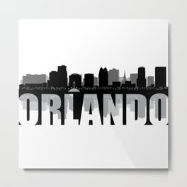 Orlando Silhouette Skyline Metal Print