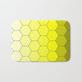 Hexagons (Yellow) Bath Mat