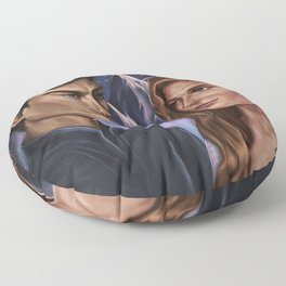 High Lord and Lady of the Night Floor Pillow
