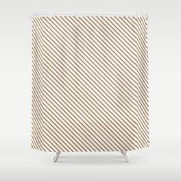 Iced Coffee Stripe Shower Curtain