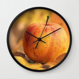 Apple in Fall Wall Clock