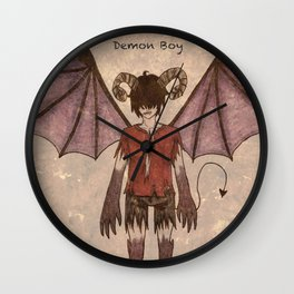 Demon Boy Wall Clock