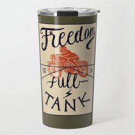 Freedom biker print Travel Mug