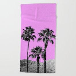 Pink Palm Trees / Desert / Palm Springs Beach Towel