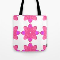 fifth harmony Tote Bags featuring Harmony by Elisa Rosa