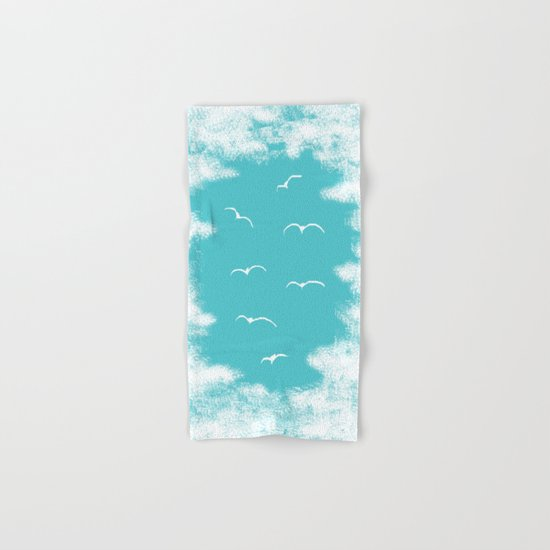 Seabirds and Clouds Hand & Bath Towel
