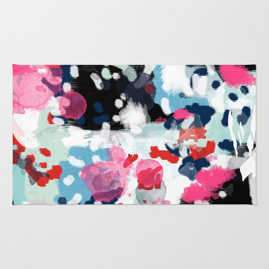 Paige Abstract Painting Hipster Home Decor Trendy Color