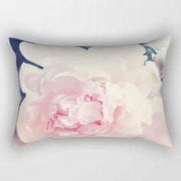 Beautiful Peony Flower Art Rectangular Pillow