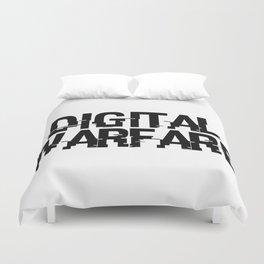 Digital Warfare Duvet Cover