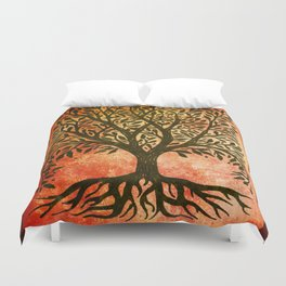 Tree Of Life Warm Tones Duvet Cover