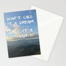 Don't call it a dream, call it a plan. Stationery Cards