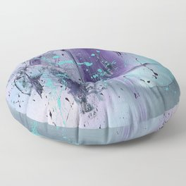 Water in the Moon, Original Oil On Canvas Modern Abstract Floor Pillow