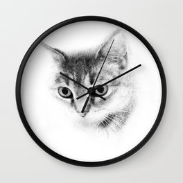 Tiger Cat Take Two  Wall Clock