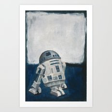 R2D2 and Rothko Art Print