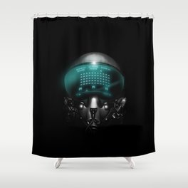 Space Invasion Shower Curtain