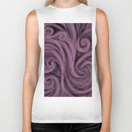 dark lavender swirl Biker Tank
