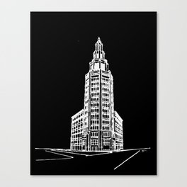 the Electric Tower at Night Canvas Print