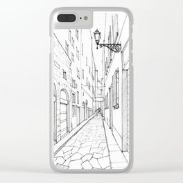 Narrow alley in Florence Clear iPhone Case