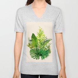 Leaves 1 Unisex V-Neck
