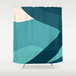 swell ocean and teal Shower Curtain