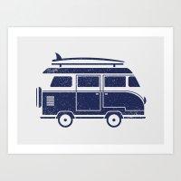 volkswagen Art Prints featuring Volkswagen by adovemore