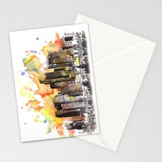 Los Angeles Cityscape Skyline Painting Stationery Cards