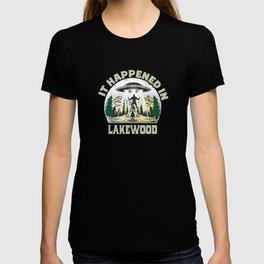 Alien UFO In lakewood City T-shirt