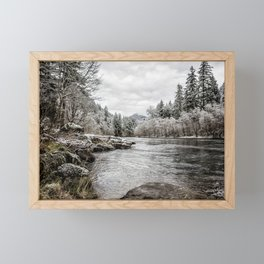 Wintry River Framed Mini Art Print