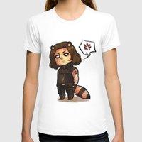 bucky T-shirts featuring raccoon!bucky by zombietonbo