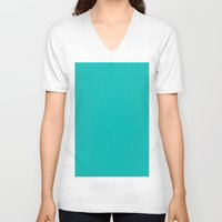 tiffany V-neck T-shirts featuring Tiffany Blue by List of colors