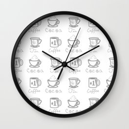 Hot Drinks Wall Clock