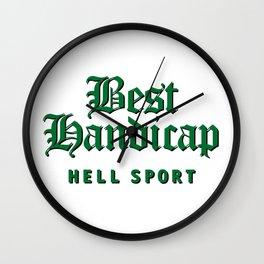 Best Handicap - Hell Sport - Green Wall Clock