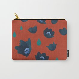 Winter Poppies Carry-All Pouch