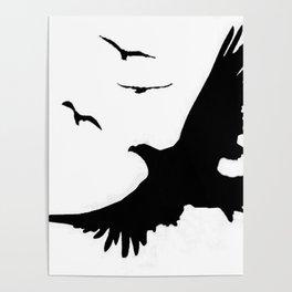 ORIGINAL DESIGN OF FLYING BLACK EAGLES ART Poster