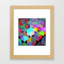 Neon light boxes Framed Art Print