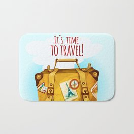 Travel Concept With Suitcase Bath Mat