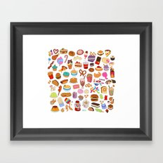 Cute food Framed Art Print