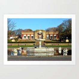 Blackpools Stanley Park Cafe Art Print