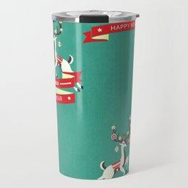 Christmas Deers with baubles Travel Mug