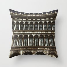 Facade on Piazza San Marco Throw Pillow