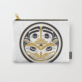Northwest Pacific American Native Totem In Gold No. 4 Carry-All Pouch