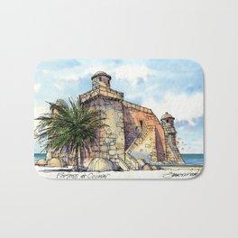 Hemingway's Cuba:  Fortress at Cojimar Bath Mat