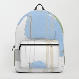 stone by stone 1 - abstract art fresh color turquoise, mint, purple, white, gray Backpack