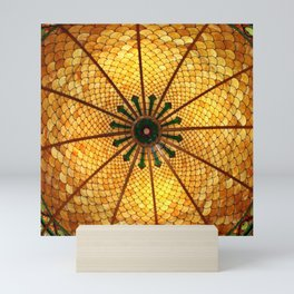 Golden Stained Glass Scales Mini Art Print