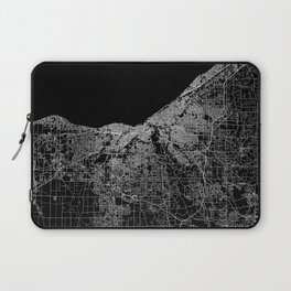 Cleveland map Ohio Laptop Sleeve